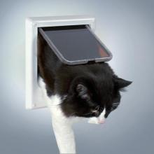 Дверца для кошки магнитная 4 позиции, клапан 14,7 х 15,8 см 3869