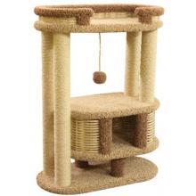 Домик когтеточка для кошек ковролиновый «Фидика» 80*40*100 см, сизаль