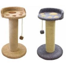 Когтеточка для кошек ковролиновая «Ряпушка» 50*50*90 см, сизаль