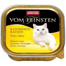 Консервы для кастрированных кошек с индейкой и сыром (Vom Feinsten Castrated cat)