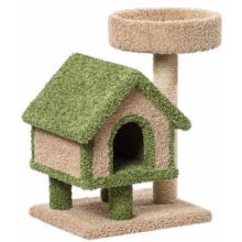 Домик для кошек ковролиновый «Избушка с лежанкой» 57*43*78 см, сизаль