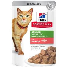 Паучи для пожилых кошек с лососем (Senior Vitality Mature Adult)