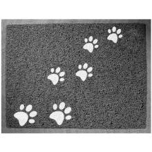 """Коврик для кошачьего туалета прямоугольный """"Лапки"""", серый, 60*40см"""