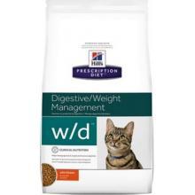 W/D для кошек - Лечение сахарного диабета, запоров, расстройств ЖКТ Low Fat/Diabet