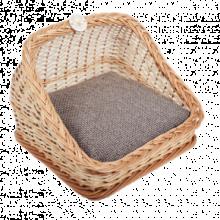 Плетеная лежанка квадратная для животных 38*38*30 см