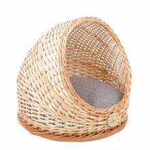 Плетеная лежанка круглая полузакрытая для животных 40*39 см
