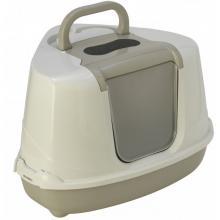 Туалет-домик угловой Flip с угольным фильтром, 55х45х38см, теплый серый