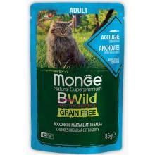 Cat BWild GRAIN FREE паучи из анчоусов с овощами для взрослых кошек