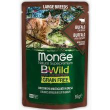 Cat BWild GRAIN FREE паучи из мяса буйвола с овощами для кошек крупных пород