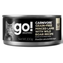 Консервы беззерновые с рубленым мясом ягненка и дикого кабана для кошек (Carnivore Grain Free Minced Lamb with Wild Boar CF)
