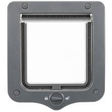 Дверца для кошки 2 позиции, клапан 14 х 15,5 см, серая (44202)