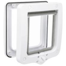 Дверца для кошки 4 позиции, клапан 14 х 15,5 см, белая (44211)