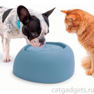 Поилка-фонтан для кошек и собак PET FOUNTAIN, 2 л, голубая