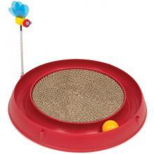Catit Круглая когтеточка с мячиком и игрушкой-пчелкой, 37.6*36*4.4см, красная (H430002)