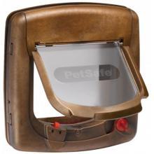 Дверца для кошек StayWell Deluxe с магнитным ключом, 4 позиции, клапан 14 х 15,2 см, коричневая
