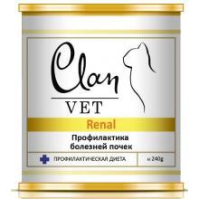 Clan Vet RENAL Диетические консервы для кошек Профилактика болезней почек
