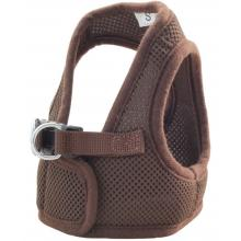 Комплект: поводок и шлейка-жилетка, обхват груди 30 см, коричневый (HL03XS)