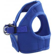 Комплект: поводок и шлейка-жилетка, обхват груди 35 см, синий  (HL02S)