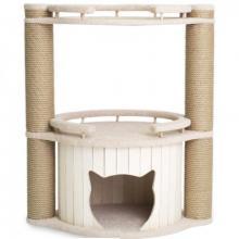 """Комплекс для кошек  """"Норд"""" с бортиками, белый 70*45*80 см."""