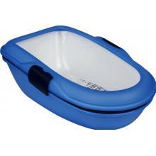 """Туалет """"Berto"""" с бортиком и сеткой, 39*59*22 см., синий (40152)"""