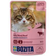 Кусочки в соусе с говядиной для кошек