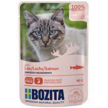 Кусочки в соусе с лососем для кошек