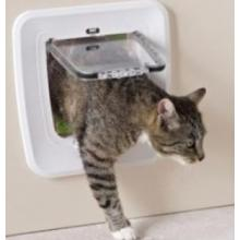 Дверца для кошек 4 позиции, клапан 17 х 17,5 см, белая  S3602